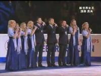 表彰式で日本の国歌「君が代」を合唱してくれるスウェーデン人グループ
