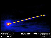 ジャンボ機でレーザーを照射して上空からミサイル破壊実験に成功【米国】