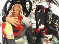 レーシングカーにお婆さんを乗せて爆走してみたwww 叫び疲れて放心状態www