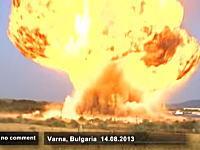 ガス爆発の衝撃(((゚Д゚)))ブルガリアで11名が負傷した貨物列車爆発の映像。