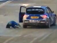 車から落ちて無人の車を追いかけるペター・ソルベルグwwwwwwww