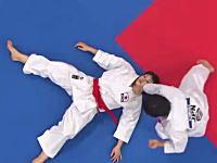 空手の形団体。世界選手権で優勝した日本の団体男子、女子の演武。パリ。