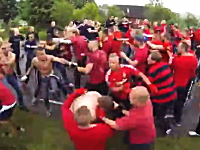 なんでこいつら集団で殴り合うのが好きなの?wwwフーリガンの熱い戦い。