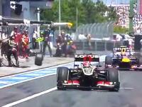 F1ドイツGPで危険な事故。マシンから外れたタイヤがカメラマンを直撃してしまう。