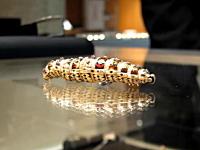 約200年前に作られたという宝石を散りばめた光り輝く動く芋虫のオモチャ