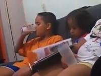 牛乳を飲み切ったらコップの底からゴキブリの死骸が出てきた時の男の子の反応