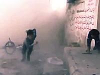 シリアで子供たちにインタビュー中に数メートル先に爆弾が降ってくる(((゚Д゚)))