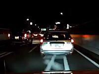 今日のDQN動画。首都高で商用車に煽られたから煽り返したらキレられた(笑)