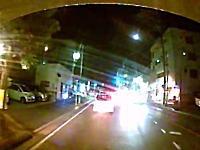 ドラレコが無ければ悪者になっていた。歩道のチャリが車道に倒れこんだ車載。