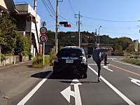 マジキチの予感。山梨県でおかしなドライバーに出会ってしまった車載ビ。