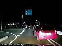 栃木県事故。車線減少で詰まった車のせいで玉突き事故になってしまう車載。