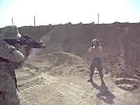 痛いYouTube。兵士のお遊び「グレネードランチャーを胸で受け止めてみた」