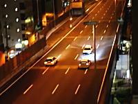 大阪環状線の走り屋たちがパトカーを煽ってるwwwしかも最近の映像wwww