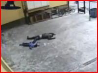 父親が7歳の息子をビルから投げ落とし自らも飛び降りて自殺。その映像・・・。
