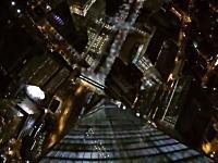 マジキチ。夜中のワールドトレードセンター(新)からベースジャンプしてみた動画。