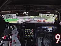 ごぼう抜きGT-R。オープニングラップで17台を抜いたGT-R NISMO GT3の車載映像。