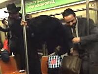 地下鉄の車内がたった一匹のネズミで大パニックに。なんかちょっとワロタ動画。