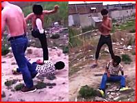 殺す気かよ・・・。頭にコンクリートブロックを投げつける。中国のイジメ映像が怖い。