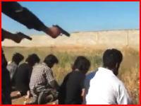 シリア動画。アル=ヌスラ戦線による過激派の銃殺刑の映像。再生注意。