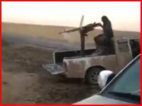 重機関銃で処刑される男性の映像。痛みを感じる間もなく吹き飛ばされる・・・。注意。