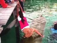 いつか役に立つかもしれないYouTube。沈んだカヌーから水を抜くにはこうすると簡単らしい。