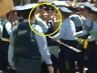 渋谷で暴れていた?サポーターが集団から物凄い勢いで引きはがされ確保される瞬間