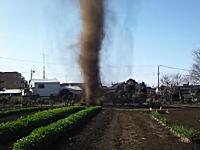 千葉で撮影された「つむじ風」がつむじ風のレベルを超えていると海外で話題に。