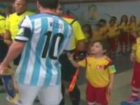 メッシに握手してもらえなかった男の子wwwwwの動画が人気に(´・ω・`)