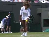 ウィンブルドンで体調が悪すぎたセリーナ・ウィリアムズ。ボールを掴むことができない(´・_・`)
