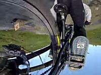 見てるだけで怖いふわっと感。MTBライダーの豪快な空中大回転をGoProカメラで。