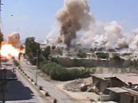 ダマスカスで大規模な空爆が行われる。短時間に50発以上の爆弾が降り注ぐ。
