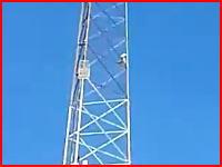 電波塔から男性が飛び降り自殺。その瞬間の映像が撮影されていた。アメリカ