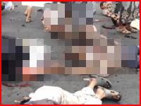 むごい・・・。イエメンで起きた自爆テロの瞬間の映像と悲惨な現場の様子。注意。