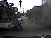 新聞配達員のバイクと車が衝突。ドラレコのおかげで0:9のほぼ過失無しになった