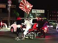 大阪には2014年なのにまだ暴走族がいる動画。岸和田が無法地帯化した日。