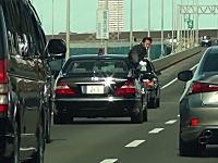 これが警護車両の動き。首相警護車列を追いかけてみた。箱乗り合図かっけえww