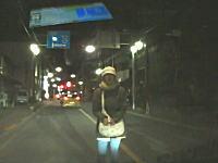 なにこれ怖い。行く手を阻むように道路で車の進路に立ち塞がる子供連れのお母さん