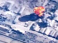 ヨルダン軍によるイスラム国への報復動画。F-16戦闘機でイスラム国の拠点を爆撃。