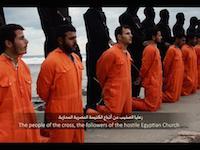 血で染まる海。イスラム国がキリスト教徒10人以上を同時に斬首するキチガイ動画を新たにアップする。閲覧注意。