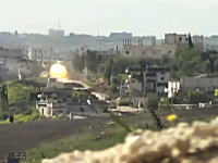 シリア動画。戦車に狙われたカメラ。主砲が迫ってくる弾道がみえる(((゚Д゚)))