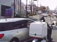 どっちがDQN動画。神奈川の路上で揉めているステーションワゴンと三輪車。何があった?