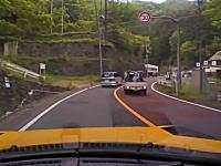 奥多摩町で見かけた酷い煽り運転をしている軽トラックを警察に通報したところ・・・。