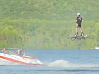 ギネス動画。ホバーボードによる移動距離最長記録。カナダの男性が905フィート2インチ移動してギネス。