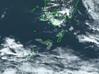 宇宙(高度35000km)から撮影した口永良部島の噴火の瞬間。ひまわり8号