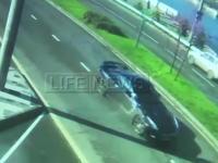 ロシアプレミアリーグの選手が一般道をGT-Rで時速170キロの暴走。電柱に突っ込んで車を大破させる。
