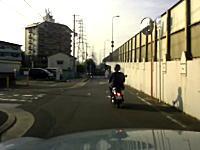 ちょっと遅かった原付に鬼クラクションで威嚇する大東市のDQN動画。「本当一度死んでくれ」