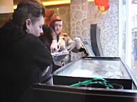 動物愛護の活動家らが中華料理店の生簀からロブスターを強奪して海に帰してあげる。