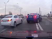 BMWとレクサス。2台の高級車に絡まれ続けるうp主の車載。何をしたんだ・・・。