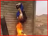 人間の丸焼き・・・。イラクでスンナ派の男性を丸焼きにするシーア派の兵士たち