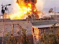 イラクの戦い2015。イラクの治安部隊を自動車爆弾の衝撃波が襲う。バイジーにて。